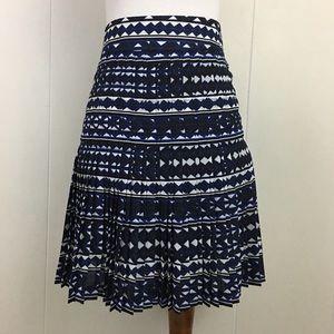 J. Crew Factory NWOT Pleated Geometric Mini Skirt